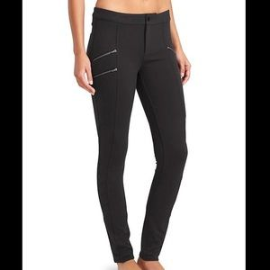NWT Athleta Ponte Twill Moto Black sz 4P
